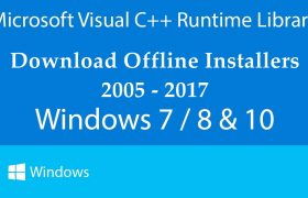 Visual C++ Runtime Library Offline Installer Setup for Windows 7 | 8 | 10