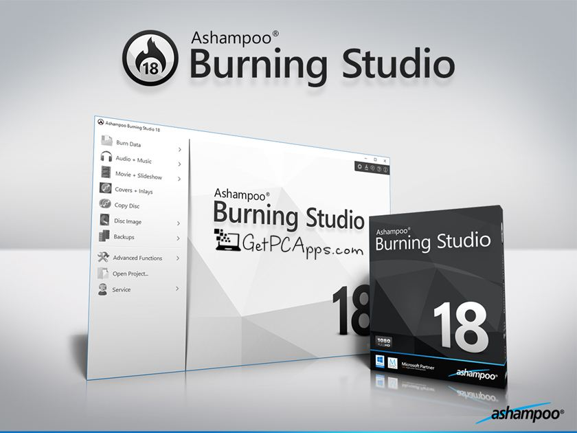 Ashampoo Burning Studio 18 Offline Installer Setup For Windows 7, 8, 10