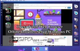 Opera Neon Web Browser Offline Installer Setup for Windows 7, 8, 10