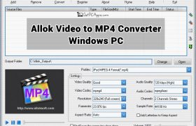 Allok Video to MP4 Converter Setup for Windows 7, 8, 10
