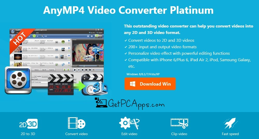 AnyMP4 Video Converter Platinum Setup for Windows 7, 8, 10