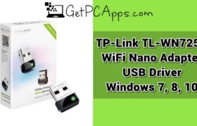TP-Link TL-WN725N Wireless Nano Adapter WiFi USB Driver Windows 7, 8, 10