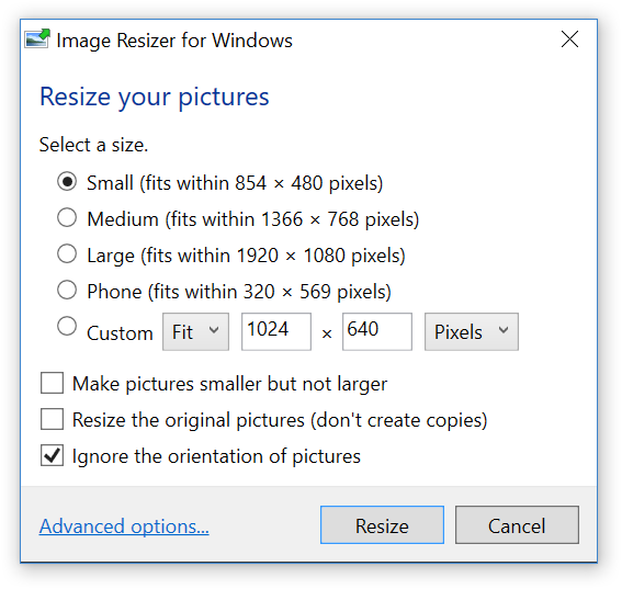 Download Windows Image Resizer 3.1.1 Utility for Windows 7, 8, 10