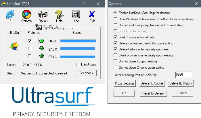 Ultrasurf proxy download.