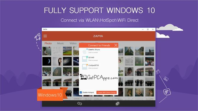 Download Zapya for Windows 10, 8, 7 Offline Setup WiFi File Transfer