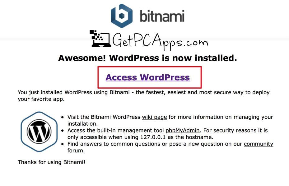 BitNami WordPress Stack Installer 5.2 64 Bit [Windows 10, 8, 7], Mac OS X