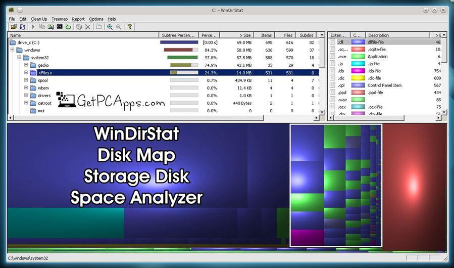 WinDirStat 1.1.2 Disk Map Offline Installer Setup for Windows 10, 8, 7 PC