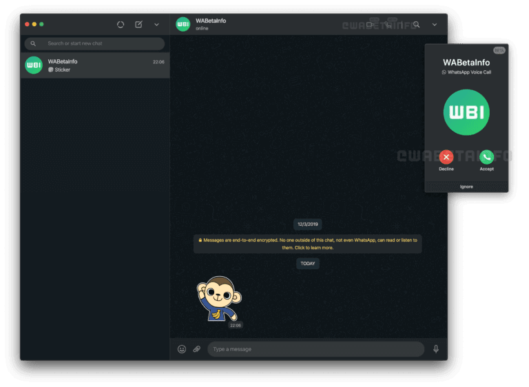 WhatsApp Web Desktop Voice & Video Calls for Windows 10, 8, 7