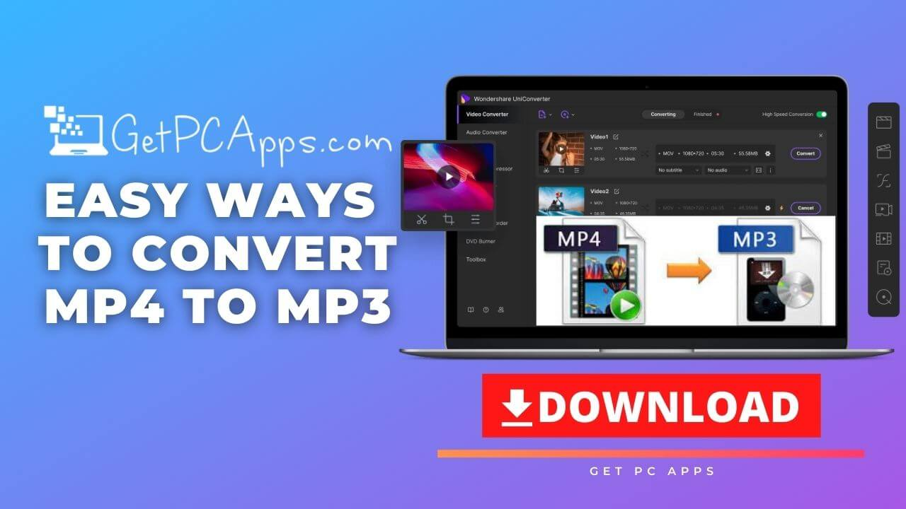 2 Easy Ways to Convert MP4 to MP3